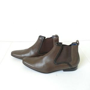Ted Baker Brown Chelsea ankle boots size 8